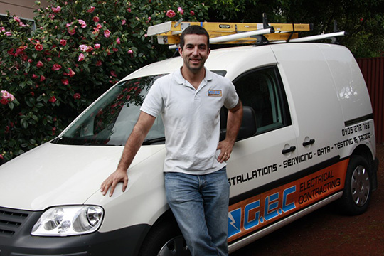 Electrician Christian Grant